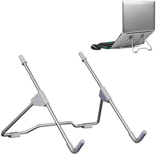 FFLSDR Laptop Stand Vertical LaptopLaptop Holder Folding Portable Viewing Angle Height Adjustable Quality Aluminum Alloy Bracket Support 10-17inch Notebook