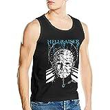 Lsjuee Hellraiser Camisetas sin Mangas de algodón para Hombre Camisetas sin Mangas Negro