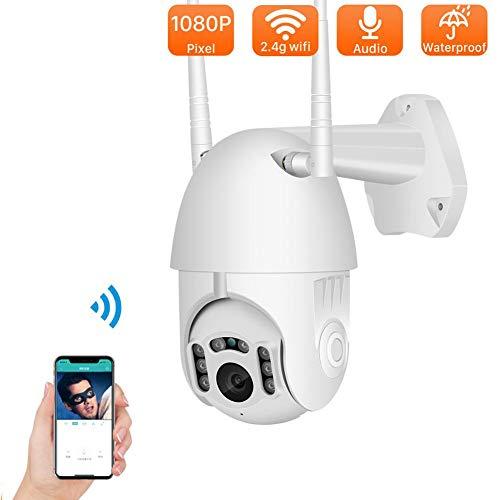 BZWHM1GJ Außenüberwachungskamera, 1080P PTZ WiFi CCTV-Kameraüberwachung IP-Kamera Home Security mit automatischer Verfolgung der menschlichen Erkennung Zwei-Wege-Audio-Unterstützung ONVIF