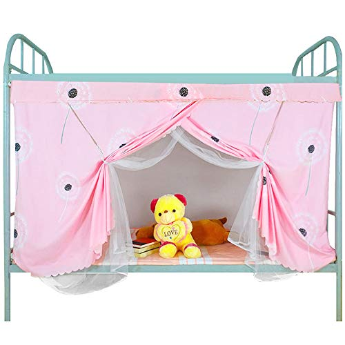Felice Student College Dorm Single Bed Bunk Bed Curtain Blackout Cloth Bed Canopy Anti-Mosquito Tent with Dustproof Top