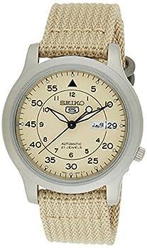 SEIKO Men s SNK803 SEIKO 5 Automatic Watch with Beige Canvas Strap