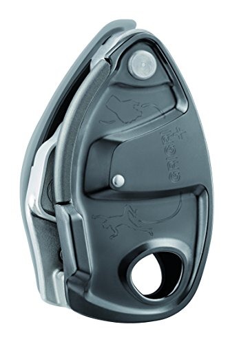 PETZL - GRIGRI +, Belay Device with Assisted Braking, Gray