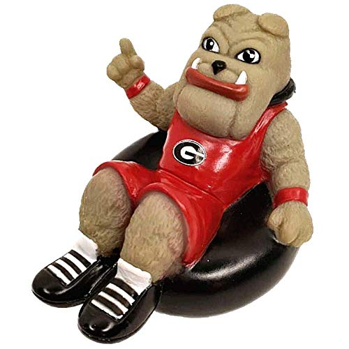 Rubber Tubbers University of Georgia - Premium Bath Toy Collectible Sports Memorabilia - First Ever Collectible Line of Licensed Floating Collegiate Mascots (Georgia Bulldogs | Hairy Dawg)