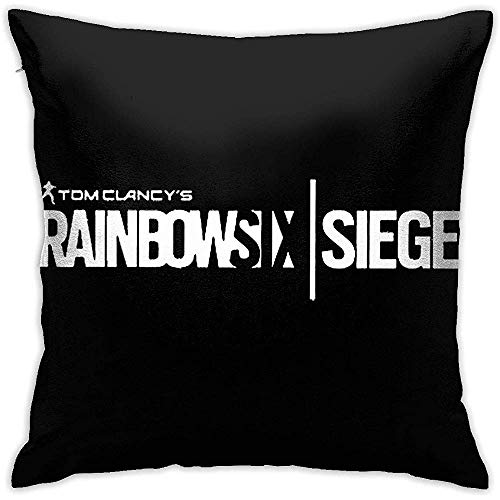 BLANKNTC Rainbow-Six-Siege Kissenbezüge Platz Dekokissenbezug Set Kissenbezüge für Sofa Wohnzimmer Schlafzimmer Auto Dekorative, S