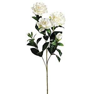 27″ Gardenia Silk Flower Stem -White (Pack of 12)