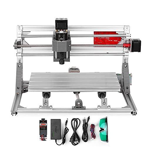 VBARV Desktop-Graviermaschine, tragbarer Haushaltsgraver-Drucker, mit Legierungs-Shell-Rahmen, DIY-Handwerk, Augenschutz, einfach zu bedienen, für Holz-Leder-Voll-Set