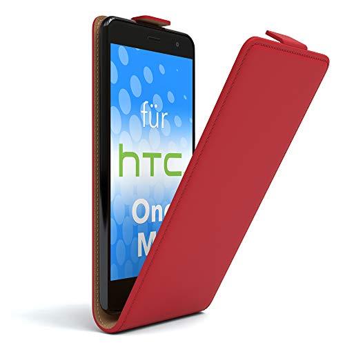 EAZY CASE HTC One (M9) Hülle Flip Cover zum Aufklappen, Handyhülle aufklappbar, Schutzhülle, Flipcover, Flipcase, Flipstyle Case vertikal klappbar, aus Kunstleder, Rot