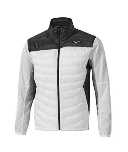 Mizuno Herren Move Tech Jacke, schwarz/weiß, Large