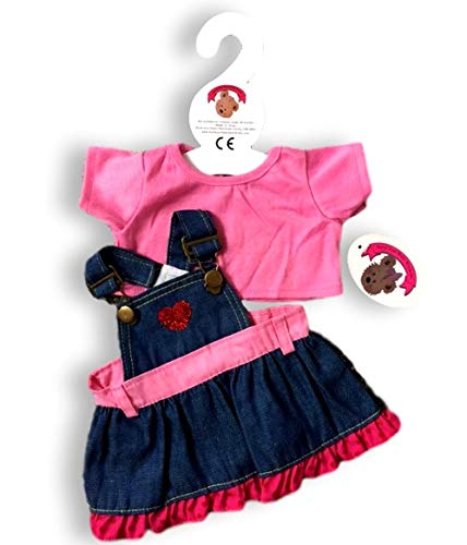 ToyCentre Candy Denim Dress & T-Shirt Outfit Teddy Bear Clothes fit 15in Build a Bear