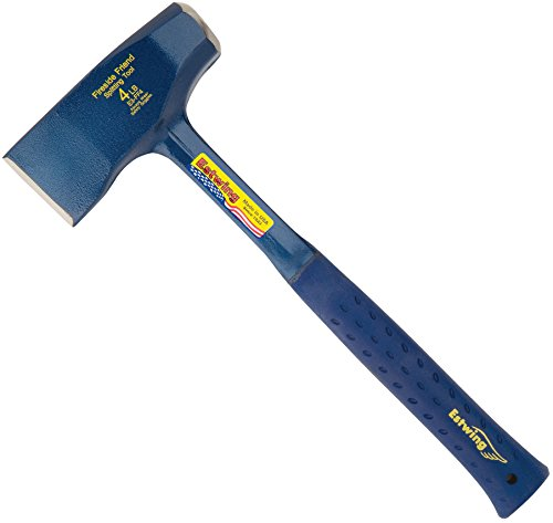 Estwing Fireside Friend Axe - 14' Wood Splitting Maul with Forged Steel Construction & Shock Reduction Grip - E3-FF4