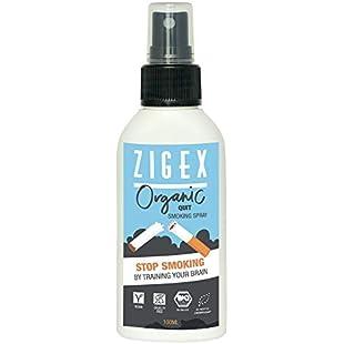 Stop Smoking Spray by ZigEx | Organic spray without nicorette 100ml | Alternative to e-cigarette & Nicorette gum | Mouth spray for quit smoking