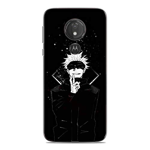 LUOKAOO Case for Moto G7 Play, Gojou Satoru-Jujutsu Anime 0 Ultra TPU Transparent Silicone Rubber Gel Edge Cover Coque Silikon