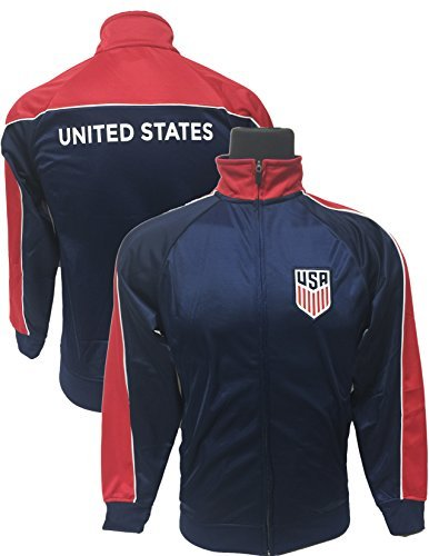 US Soccer Jacket, Official USA Track Jacket for Adults (Medium)