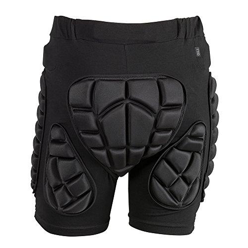 TTIO Gepolsterte Shorts-3D Hüfte Butt Pad-Eva Schutzausrüstung Weiche atmungsaktive leichte Sportbekleidung für Ski Skating Snowboarding Männer Frauen