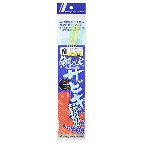メジャークラフト 鯛乃実サビキ タイラバ 360mm 針:イサキ#10 TM-CHOKURI 360/M
