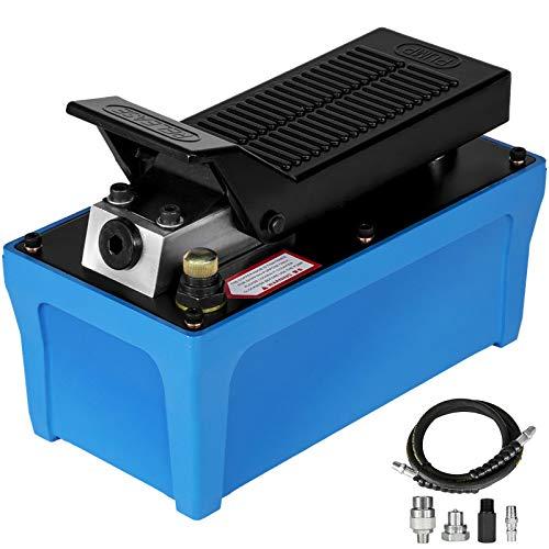 Mophorn Air Hydraulic Pump 10000 PSI Air Over Hydraulic Pump 1/2 Gal Reservoir Air Treadle Foot Actuated Hydraulic Pump 3/8