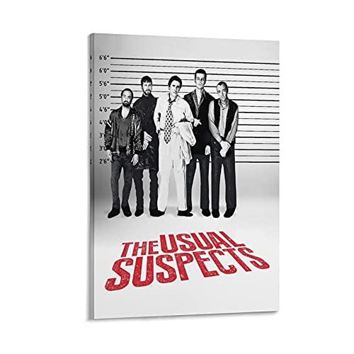 Póster de The Usual Suspects 4 Thriller Mystery Movie Poster Art Canvas Prints para colgar en el hogar moderno póster decorativo marco de 30 x 45 cm