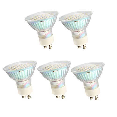 Mengjay 5 GU10, 2,5 W, AC 220-240 V, 250-270 lumen, zeer efficiënte LED-lampbeker met lagere onderhoudskosten door vermindering van de frequentie van de vervanging van de lampen