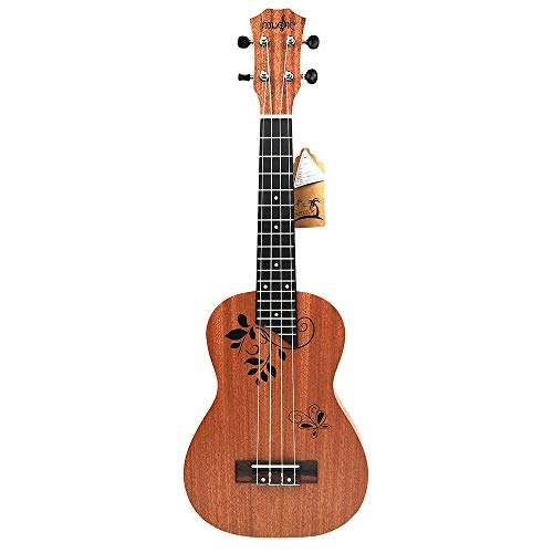 CUHAWUDBA 23 zoll Ukulele Konzert Ukulele 23 Zoll 17 Bünde Mahagoni 4 saitige akustische Einsteiger Hawai Gitarre