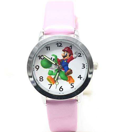 XINTENG Mario Bros horologe nuevo 1 unids niños cuero relojes niños dibujos animados Mario Bros horologe reloj niños horas niñas