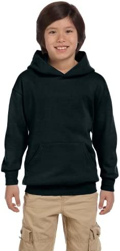 Hanes boys Youth ComfortBlend EcoSmart Pullover Hoodie P473 Black L product image
