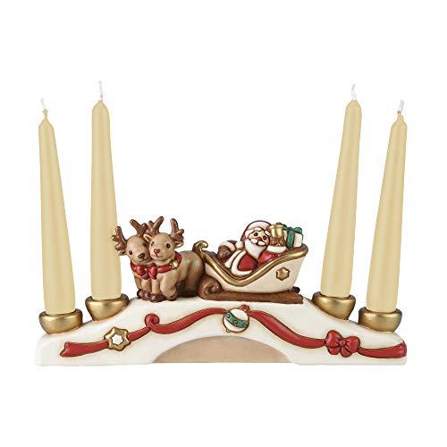 THUN  - Porta Candele Multiplo Babbo Natale con Candele
