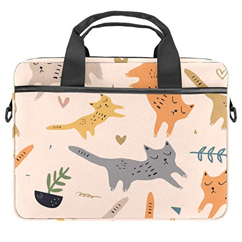 13-14.5 Inch Laptop Sleeve Case Cartoon Cats Protective Cover Bag Portable Computer Notebook Carrying Case Briefcase Message Bag