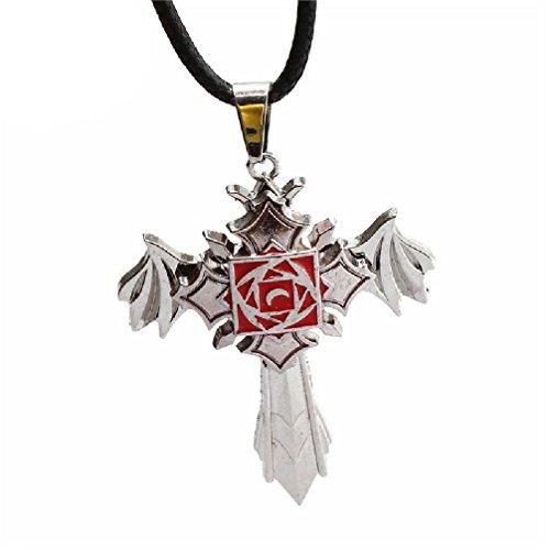 Fancy Vampire Knight - Collares de cruz giratoria