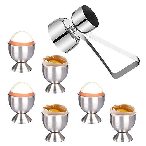 Huevera Acero, soporte para tazas de acero inoxidable y abridor
