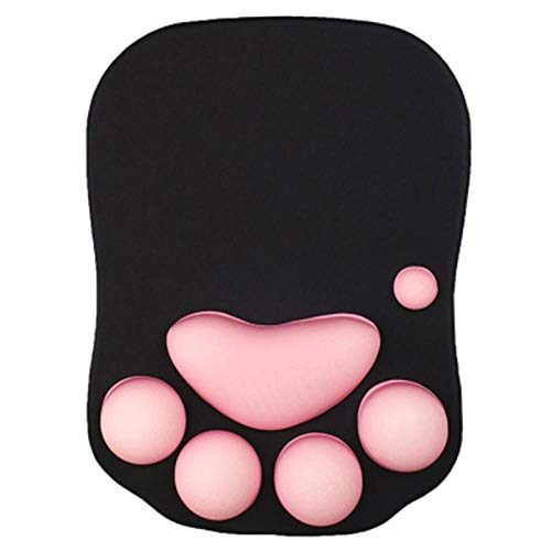 umbranded Mouse Pad Anime Soft Cat Paw Mouse Pads Wrist Rest Support Comfort Silicon Memory Foam Gaming Mousepad Mat
