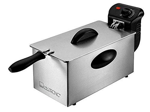 Clatronic Edelstahl-Fritteuse FR 3586 2000W 3 Liter Inox, 263684