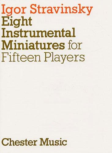 Igor Stravinsky: geschikt voor instrumentale miniaturen (miniature score). Voor dwarsfluit (duett), Oboe(Duett), Klarinet (Duett), Fagott (Duett), Horn, Viool (Duett), Bratsche(Duett), Cello (Duett)