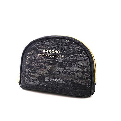 Boîte de rangement cosmétique sac cosmétique cosmétiques plein air voyage mode bain organisateur de maquillage maquillage stockage de brosse de maquillage cadeau de petite amie surprise garçons pour les filles porte-rouge à lèvres sac portable imperméable femme noir-B