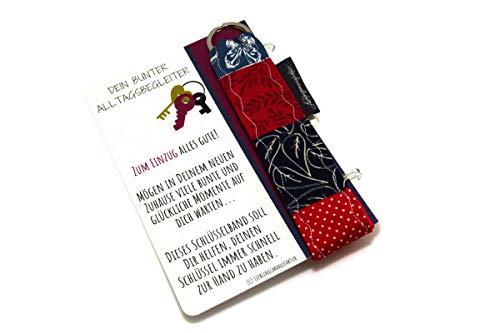 Lieblingsmanufaktur Geschenk zum Einzug ins Haus, Wohnung – farbenfroher Schlüsselanhänger mit bunter Botschaft. Nützliches Mitbringsel als Einweihungsgeschenk – Einweihung, Einweihungsparty