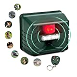 SENLUO Ultrasonic Animal Repeller,Flashing LED Lights,Eco-Friendly-Effective Animal Management Without Traps