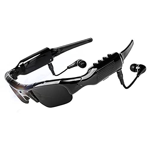 WOTUMEO Multifuncionales Gafas de Sol Bluetooth HD 1080P Cámara Mini DV Vídeo Manos Libres Gafas De Conducción Deportes Ciclismo Gafas De Sol Gafas Inteligentes con Tarjeta de Memoria de 8 GB
