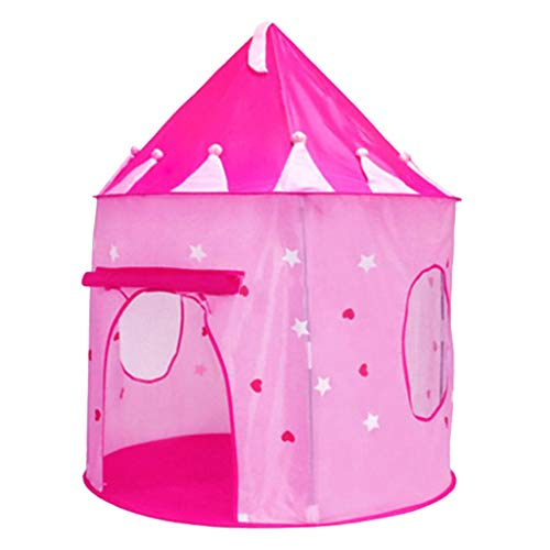 B Baosity Tienda de Campaña Plegable Portátil para Juegos de Hadas, Casa de Juegos para Niños, Castillo, Cubby, Interior - Rosado, 100x135mm