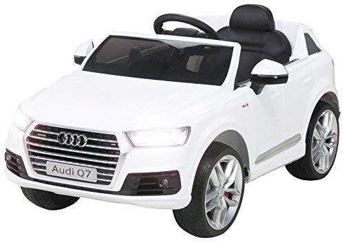 Actionbikes Motors Kinder Elektroauto Audi Q7 4M - Lizenziert - 2 x 45 Watt Motor - 2,4 Ghz Rc Fernbedienung - USB - Mp3 - Elektro Auto für Kinder ab 3 Jahre (Weiß)
