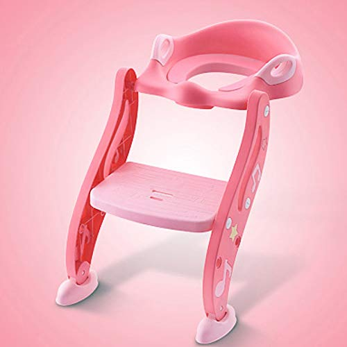 ZGZRXGY Asiento de Entrenamiento Favorito del Aseo del bebé de diseño de Dibujos Animados con el Asiento de Inodoro Ajustable no tóxico e inofensivo con un Pedal ensanchado para un fácil Agarre