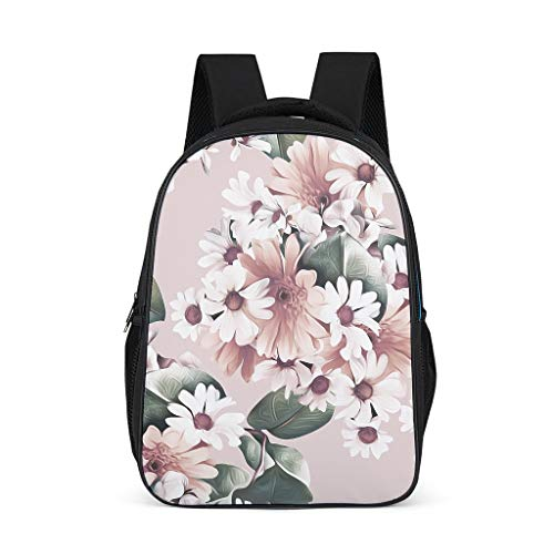 Unisex Children's Shoulder Bags Art Flowers Pink Children's Backpack School Bag Chic Backpack Hiking Backpack for Children
