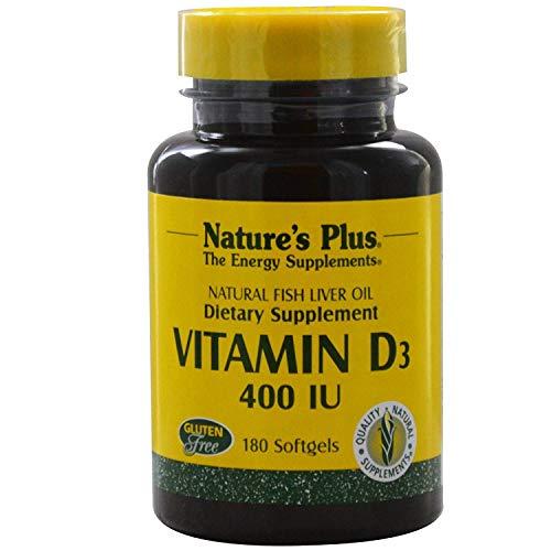 Natures Plus Vitamin D3 400 IE aus Fischleberöl 180 Softgels (38,2g)