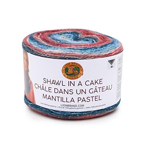 Lion Brand Yarn Company 455-301 - Scialle in un filato per torta, pietra di luna, una matassa