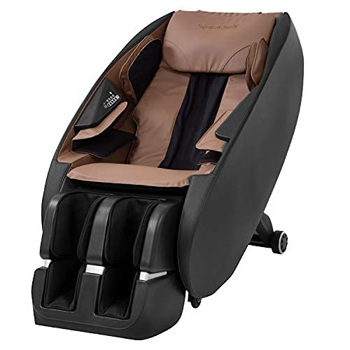Shiatsu Massage Chairs Full Body and Recliner Zero Gravity Massage Chair Electric with Built-in Heart Foot Roller Air Massage Easy to Move for Home Office,Black