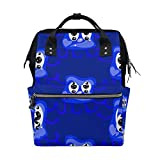 ALINLO - Bolsas para pañales con diseño de monstruos, color azul