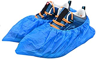 Plastic Shoe Covers Disposable -100 Pack(50 Pairs)Disposable Shoe & Boot Covers Waterproof non-Slip For Medical, Construction, Workplace, Indoor Carpet Floor Protection, One Size Fits Most