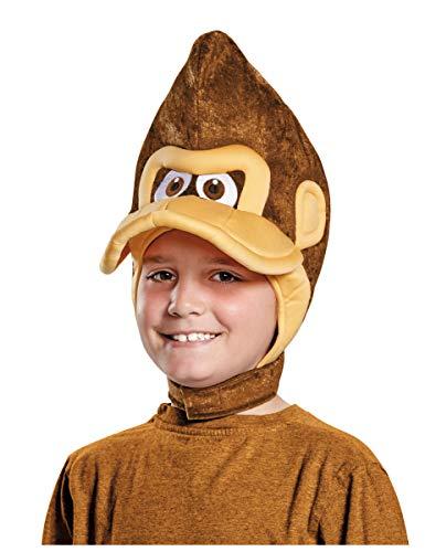 Lot de 3 - Coiffe Donkey Kong Nintendo® Enfants - Taille Unique - Chapeau de fête, Casque, Bonnet, béret, Casquette, Coiffe, Accessoire de déguisement et Costume