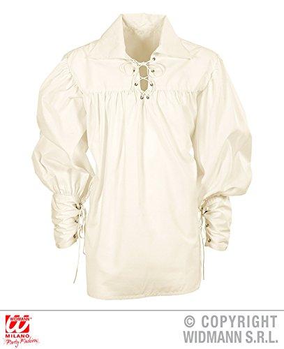 Widmann WDM67656 - Erwachsenenkostüm Bluse Schwerthemd Creme, Weiß, M