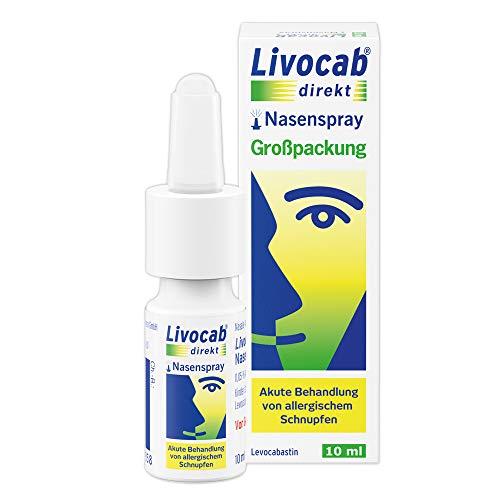 Livocab® direkt Nasenspray (10 ml) | Akuthilfe bei Allergie | Schnelle Hilfe bei allergischem Schnupfen | Wirkungsvoll ab der 1. Anwendung