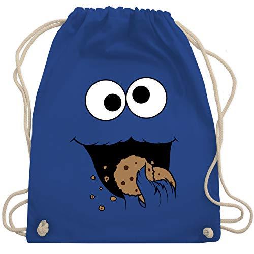 Shirtracer Karneval & Fasching - Keks-Monster - Unisize - Royalblau - kinder rucksack kindergarten - WM110 - Turnbeutel und Stoffbeutel aus Baumwolle