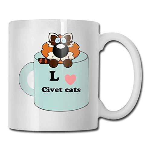 Lustige Kaffeetasse Zibetkatzen Kaffee-Teetasse Einzigartiges Festival-Geburtstagsgeschenk für Männer Frauen